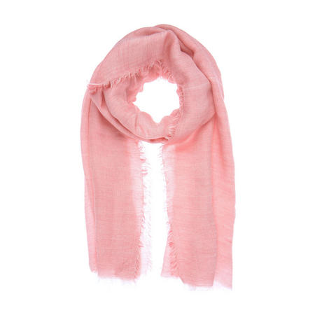 Raspberry Frayed Voile Scarf