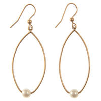 Gold Pearl Drop Earring Gold