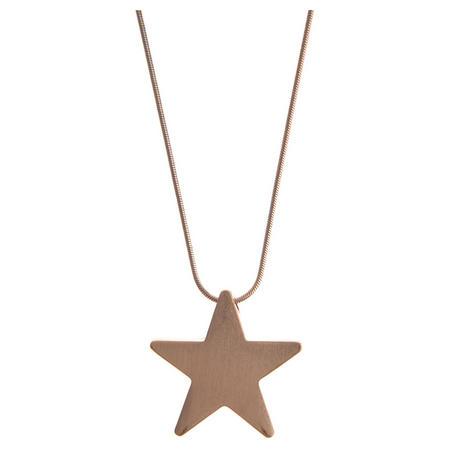 Rose gold Tone Chunky Star Pendant Gold