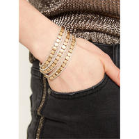Layered Disc & Chain Bracelet