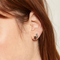 Trio Star Stud Earring