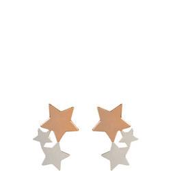 Trio Star Stud Earring