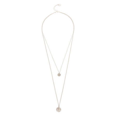 Silver Tone Layered Necklace