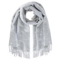 Star Blanket Scarf Grey
