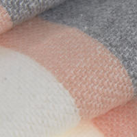 Blocked Contrast Blanket Scarf White