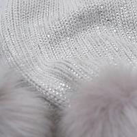 Embellished Pom Pom Scarf