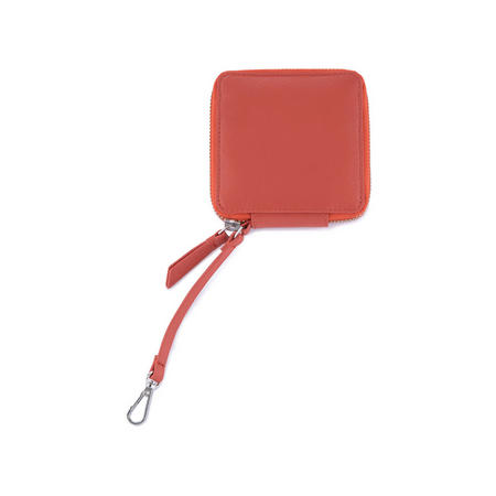 Leather Purse Keyring Orange