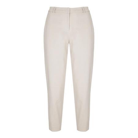 Chalk Cotton Cropped Trouser Beige