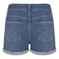 Indigo Denim Shorts Blue