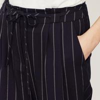 Navy Paperbag Stripe Trouser Blue