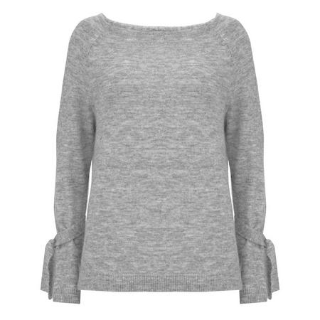 Tie Cuff Sweater Grey