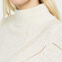 Chalk Pointelle Stitch Knit Beige