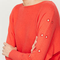 Watermelon Eyelet Batwing Knit Red