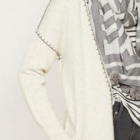 Chalk Whip Stitch Cardigan Beige