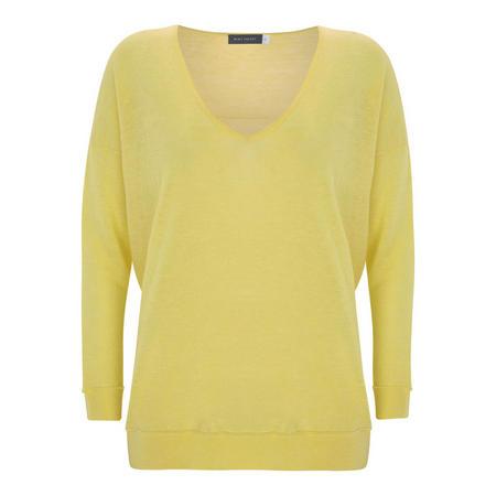 Lemon Raw Seam Detail Knit Yellow