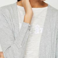 Silver Grey Boyfriend Cardigan Grey