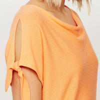Sherbet Tie Sleeve Batwing Orange
