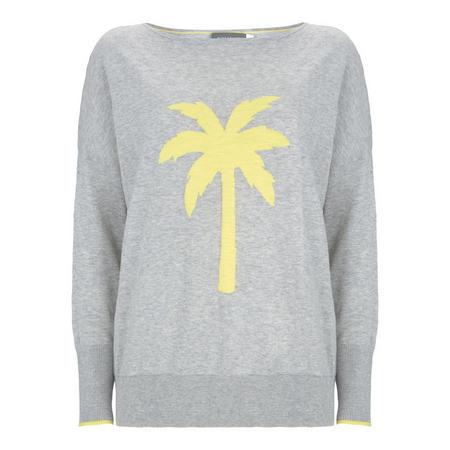 Grey Palm Tree Motif Knit Grey
