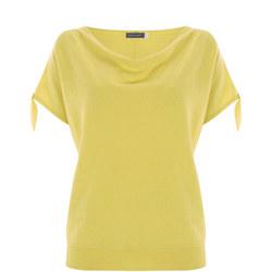 Lemon Tie Sleeve Batwing Knit Yellow
