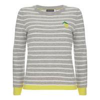 Lemon Stripe Motif Knit Multicolour