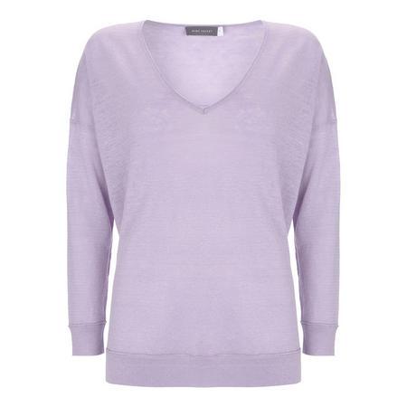 Lilac V Neck Boxy Knit Purple