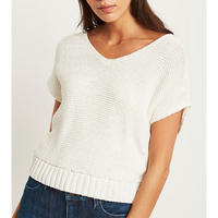 Ivory Tape Yarn Slouchy Tee White