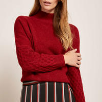 Cherry Honeycomb Stitch Knit