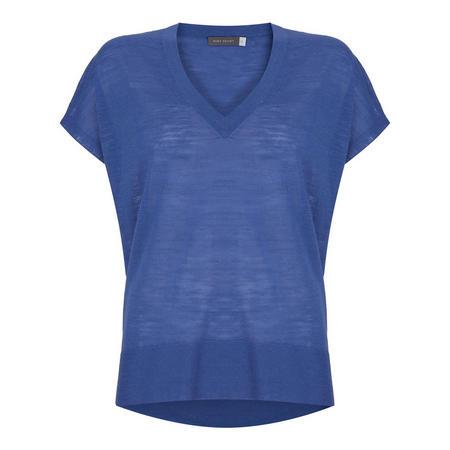 V-Neck Knit T-Shirt