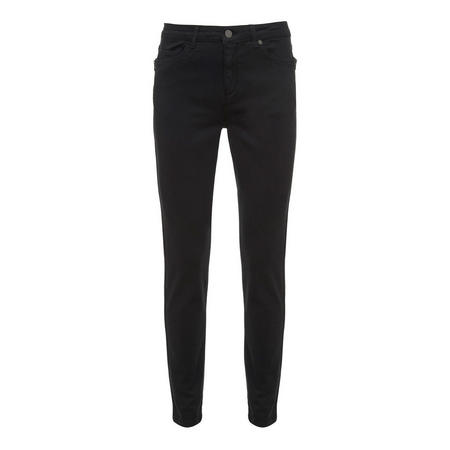 Orlando Black Zip Skinny Jean Black