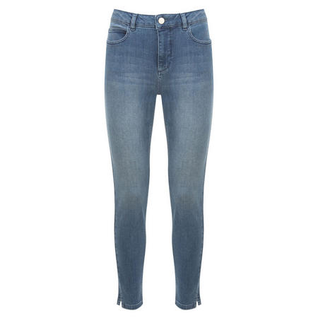 Beaumont Indigo Split Hem Skinny Jean Blue