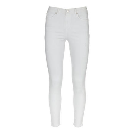 Maryland White Ram Hem Skinny Jean White