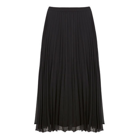 Black Chiffon Pleated Skirt Black
