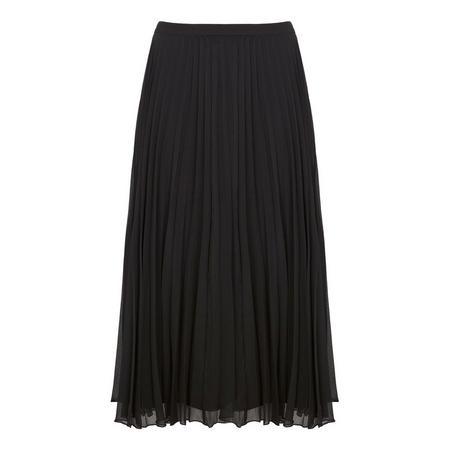 Black Chiffon Pleated Skirt Black