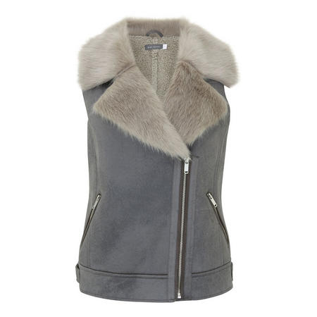 Faux Fur Aviator Gilet