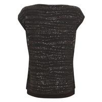 Linear Sequin T-Shirt Black