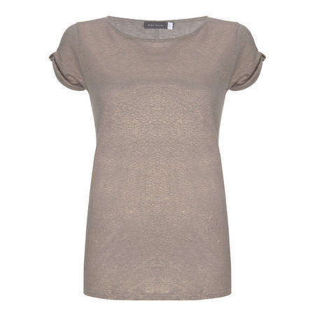 Shell Knot Sleeve Shimmer Tee Pink