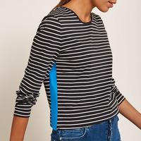 Navy Side Stripe T-Shirt