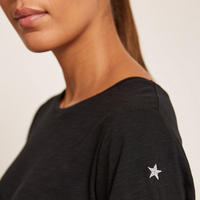 Black Cotton Star T-Shirt