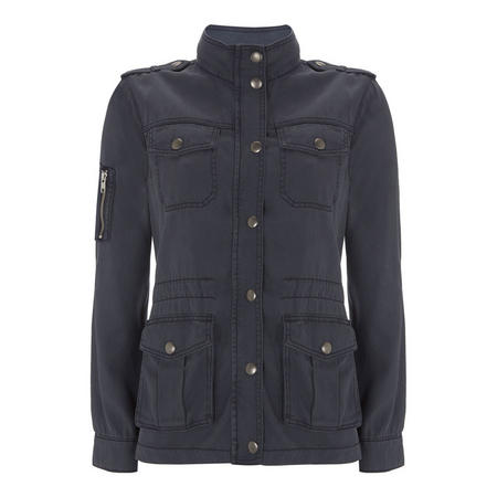 Washed Indigo 4 Pocket Jacket Blue