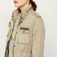 Moss Embellished Utility Jacket Green