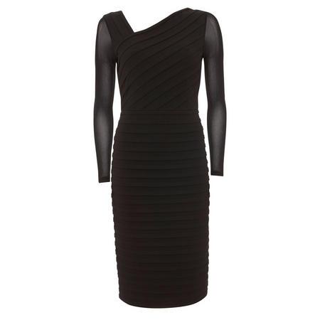 Asymmetric Bandage Dress Black