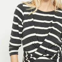 Stripe Wrap Front Jersey Dress Multicolour
