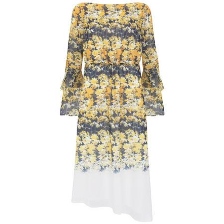 Bianca Print Midi Dress Multicolour