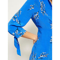 Blossom Print Shirt Dress Multi Colour