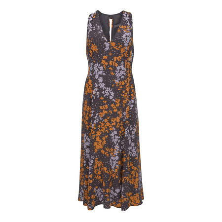 Olivia Print V-Neck Midi Dress
