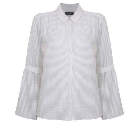Stripe Burnout Shirt White