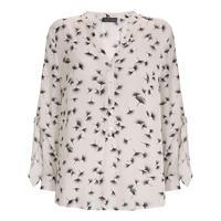 Ginko Print Tie Sleeve Top Multicolour