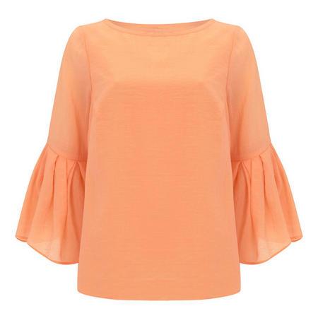 Sherbet Button Back Top Orange