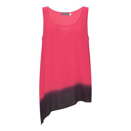 Ombre Asymmetric Vest Multicolour