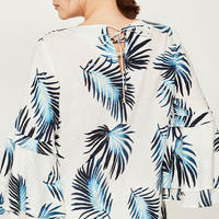 Joy Print Triple Tier Blouse Multi Colour